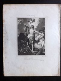 Hewlett 1812 Antique Religious Print. Christ's Resurrection